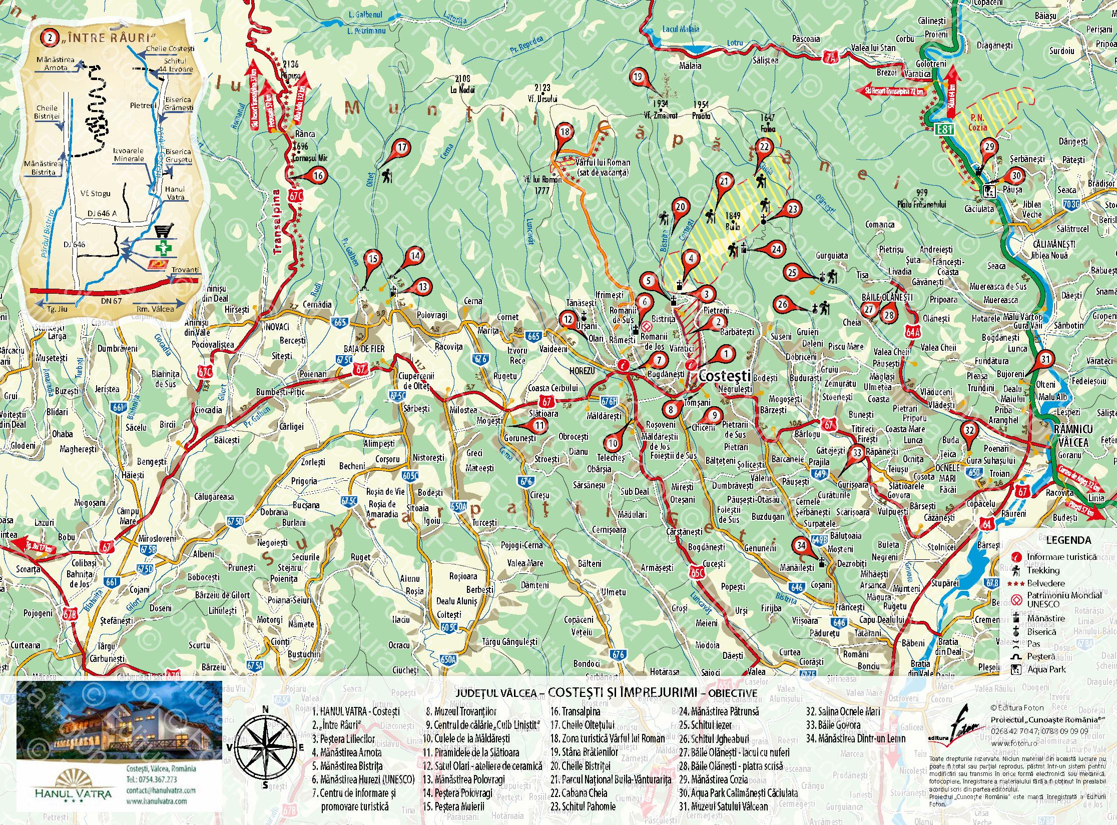 Harta Hanul Vatra